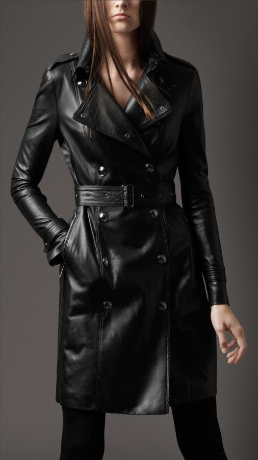 Burberry London women wool and patent trench coat.    OMG I've finally found THE ONE. This coat is THE ONE. I should marry this coat <3