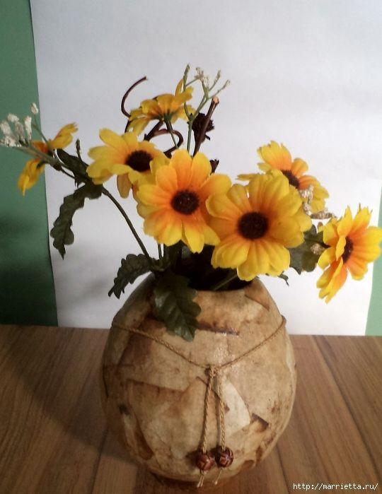 Цветочные вазы и папье-маше. Видео мастер-класс (2) (540x700, 226Kb)