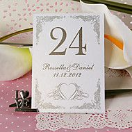 Personalized Table Number Card - Heart Tracery (s... – USD $ 5.99