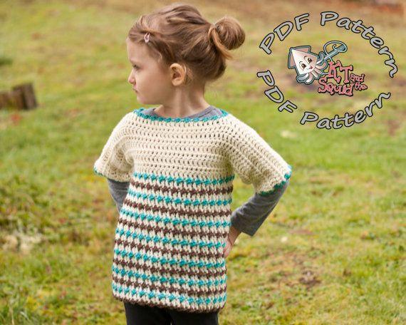 Girls crochet tunic pattern. Crochet sweater pattern ...