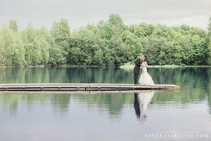 Wedding portrait lake | Wedding photography