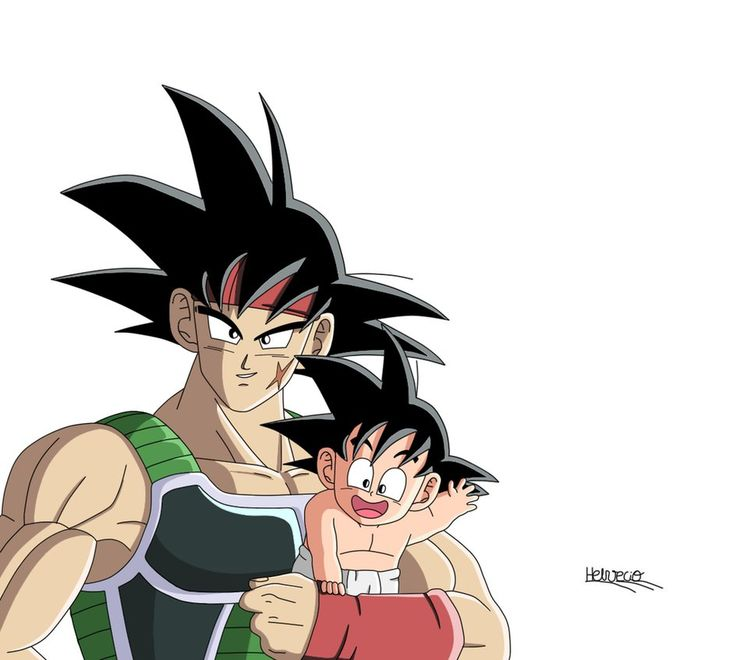 Bardok e Goku father and son by HelvecioBNF on DeviantArt