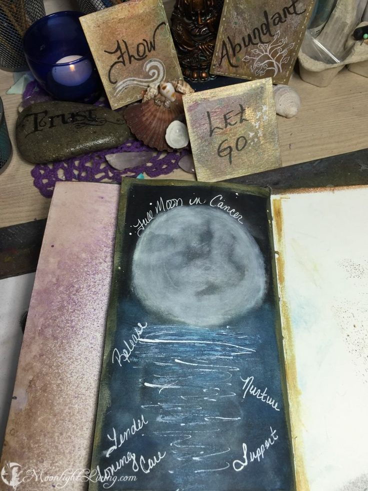 """""""Full Moon in Cancer, Release, Nurture, Tender Loving Care, Support"""" #CreativeMagick"""