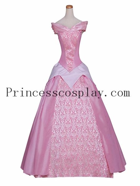 Women Princess Aurora Dress Sleeping Beauty Cosplay Costume Pink Version for Party&Wedding