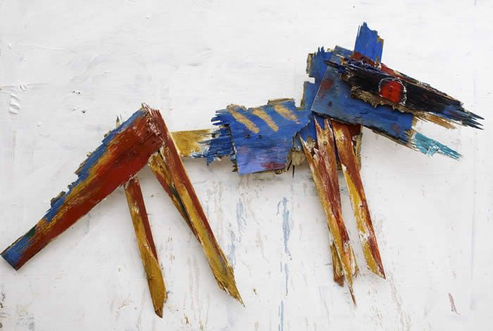 """""""rez dawg"""" paintd wood sculpt by Kelly Moore....visit at the Tesuque Flea Market in New Mexico or at www.kellymoore.net"""