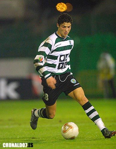 Cristiano Ronaldo con el Sporting de Lisboa