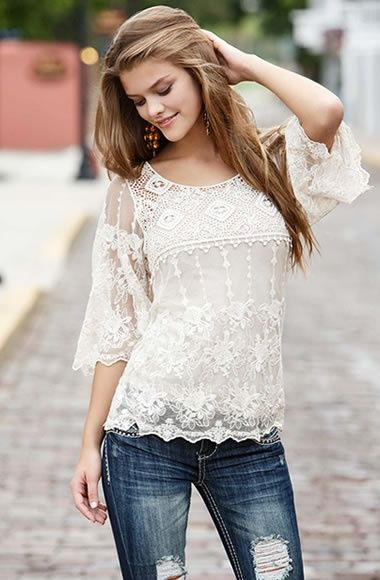 lace summer outfit