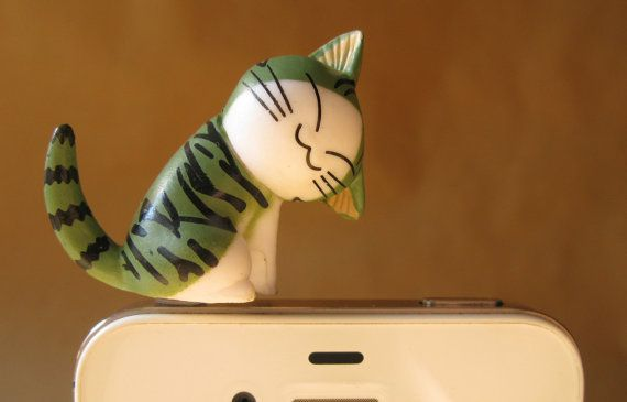 X036 Chi Kitty A Cell Phone Dust Plug dust plug by superpopcorns, $6.99