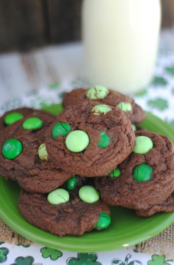 Mint Chocolate M&M's Cookies Recipe