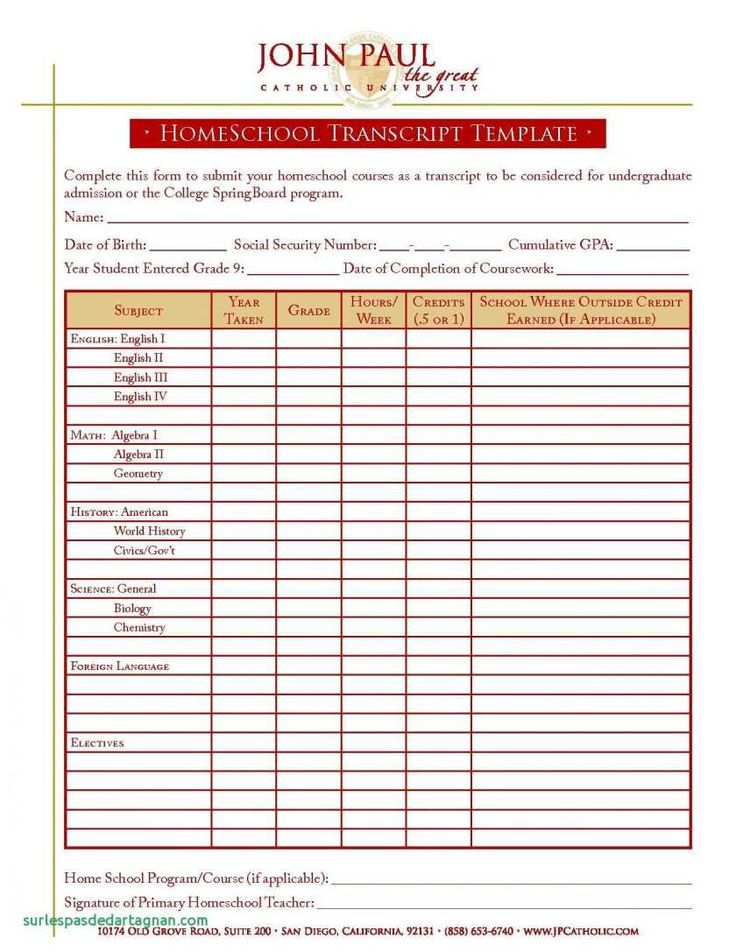 27 online blank report card template homeschool now with