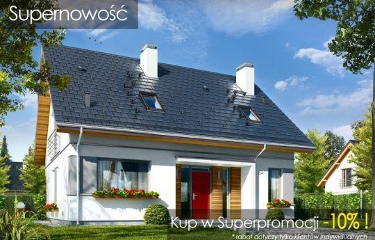 Projekt domu Idealny to dom jednorodzinny dla 4-5cioosobowej rodziny, parterowy z poddaszem użytkowym, przekryty dwuspadowym symetrycznym dachem. Idealny, jak sama nazwa wskazuje :), ma w sobie wszystko czego można wymagać od komfortowego domu: wygodne, przestronne i funkcjonalnie zaprojektowane wnętrze, oraz nowoczesną i estetyczną bryłę zewnętrzną.