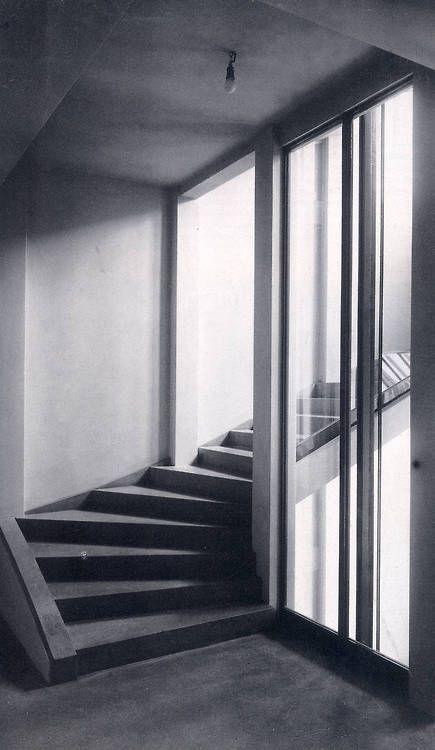 rosswolfe:  Staircase inside the Wittgenstein house in Vienna,...