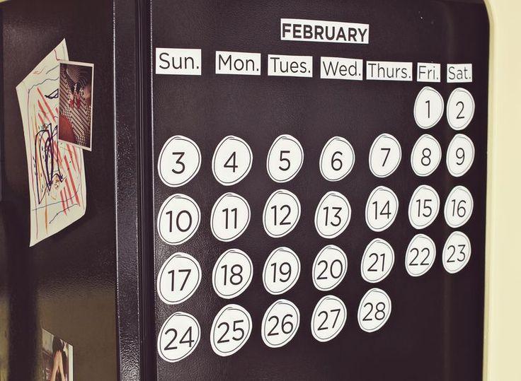 DIY Refrigerator Calendar
