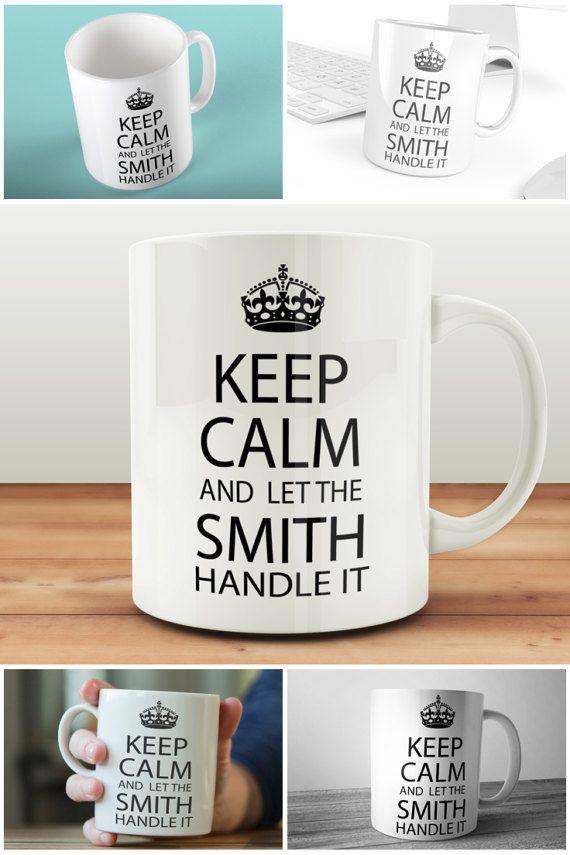 "Custom Keep Calm And Let The ""Family Name"" Handle It Mug  #keepcalm #custommugs #muglife #personalisedmuguk #prandski"