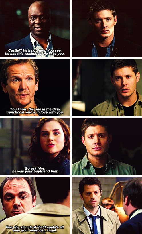 Dean's face just gets more and more done
