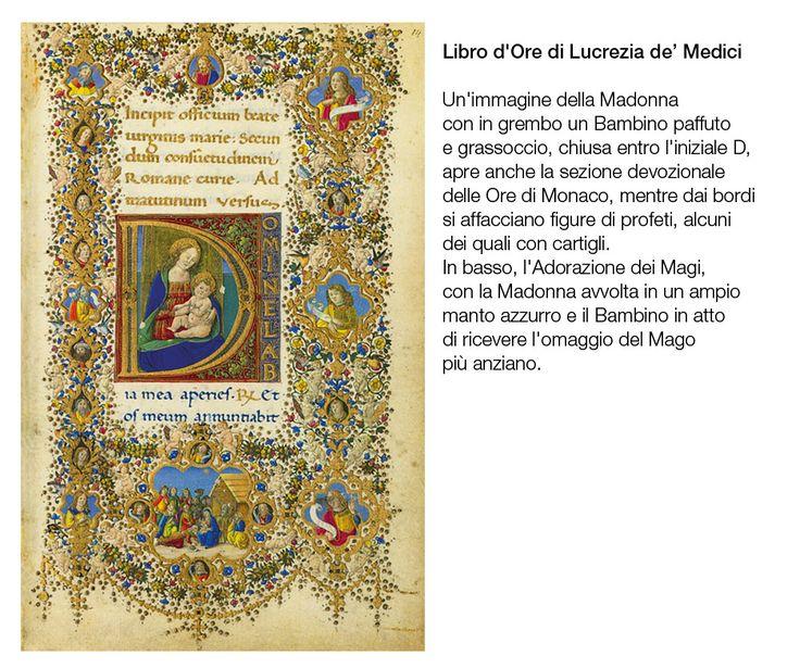 LIBRO D'ORE per Lucrezia de' Medici - manoscritto miniato del '400 - Biblioteca Medicea Laurenziana - Firenze
