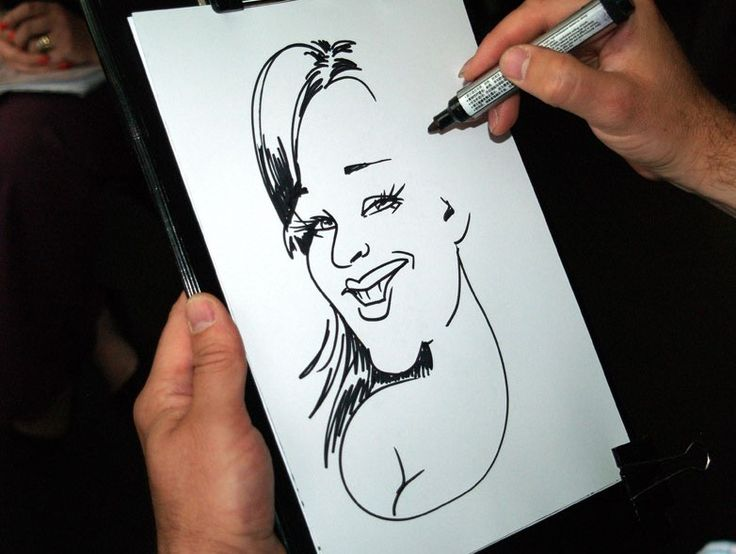 In action caricature