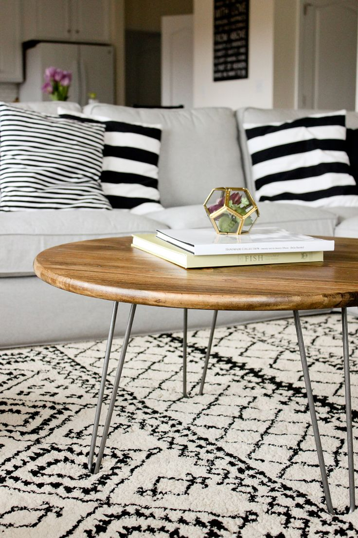 DIY: hairpin leg coffee table