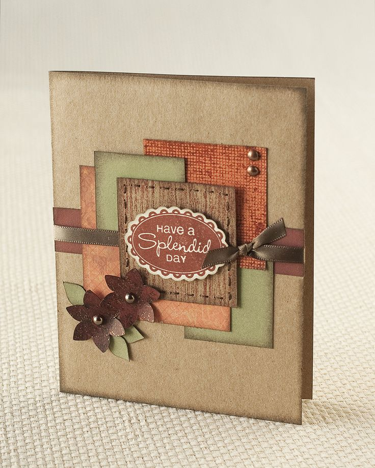 """Have a Splendid Day"" card idea from CTMH. - another great layout to use scraps!"