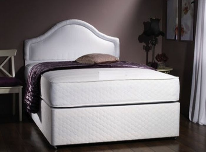 Divan Beds Centre Milan Small Single Memory Foam 1500 Pocket Sprung Mattress In White