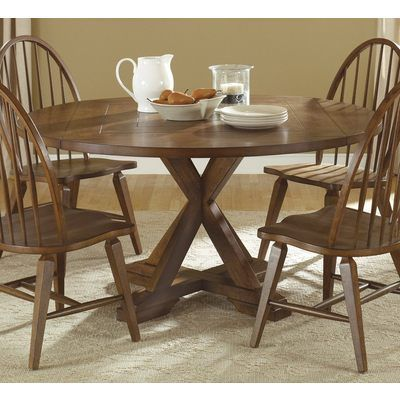 Hearthstone Five Piece Round Top Pedestal Table And Spindle Back Chair Set  By Liberty Furniture At SummerHome Furniture