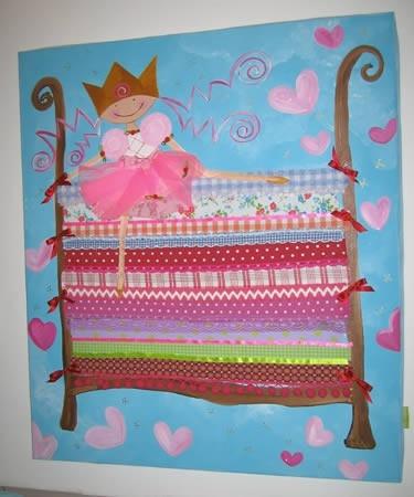 Schilderij Prinses op de Erwt - http://www.vrolijkeboel.nl