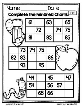 Numbers First Grade Math Counting and Number Lines Mega