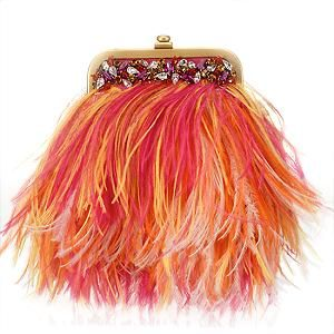 feathered handbag