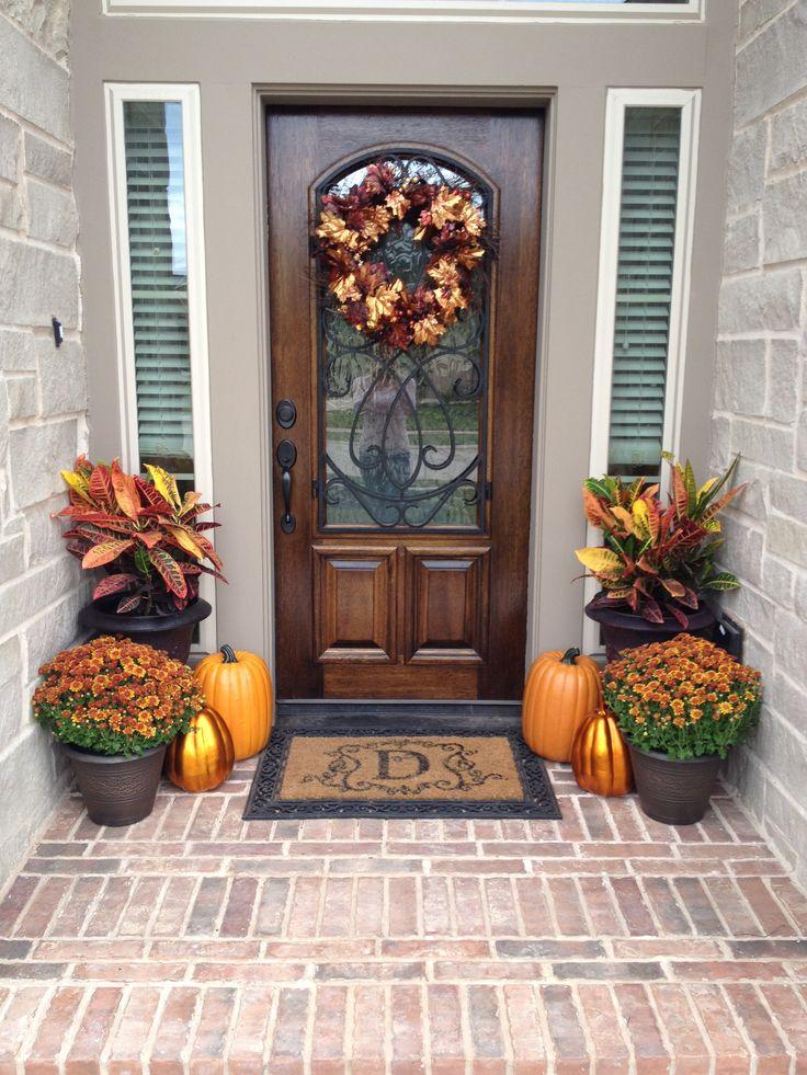 Fall Porch Decorations Holidays Pinterest