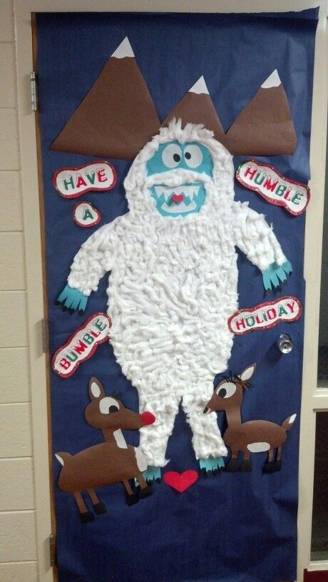 holiday door decorating competition bumble and rudolph office decor competitions pinterest christmas door christmas door decorations and christmas