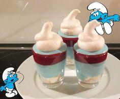 Rezept Geplatzter Schlumpf - Lustiges und leckeres Dessert von Schirmle - Rezept der Kategorie Desserts