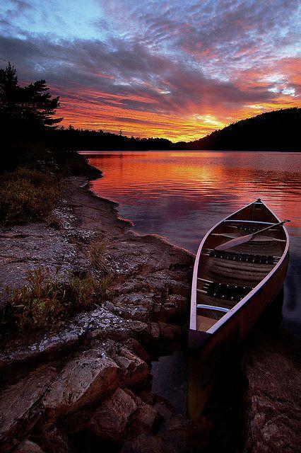 Sunset, Killarney Prov Park, Ontario, Canada.