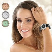 Damen-Armbanduhr mit Strass