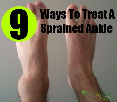 9 Ways To Treat A Sprained Ankle