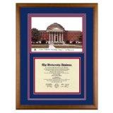 Southern Methodist University Texas Diploma Frame with SMU Lithograph Art PrintBy Old School Diploma Frame Co.