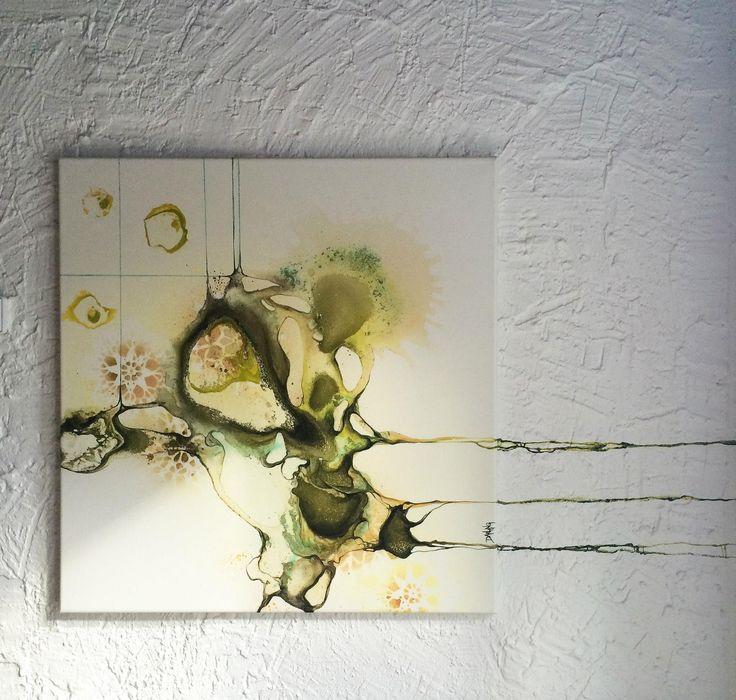 Restaurant art project in Denmark. Abstract art by artist Rikke Darling. #contemporaryart #art #restaurant #denmark #abstract #rikkedarling #darling #artist #company #interiordesign #interior #design #artwork #painting #paintings #abstractart #modernart #fineart #darling