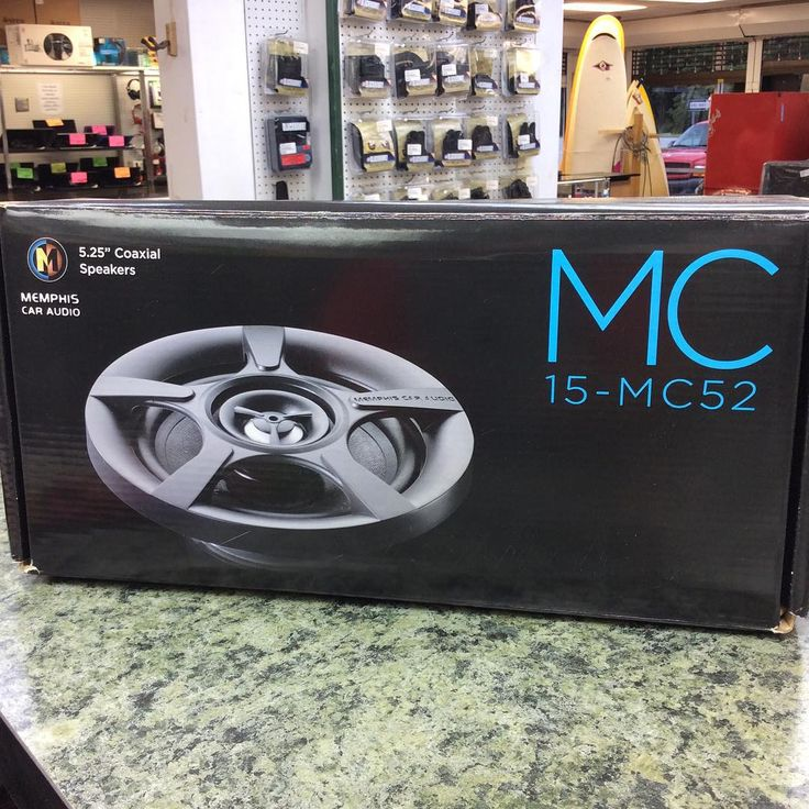 Memphis 5.25 inch car speakers, model 15-MC52, new in the box. #carspeakers #caraudio #memphis #memphiscaraudio #stopandpawn