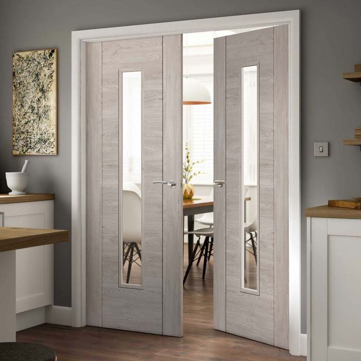 Laminates Alabama Fumo Smoky Grey Coloured Door Pair with Clear Safety Glass is Prefinished - Lifestyle Image.    #frenchdoors