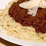 Spaghetti alla Bolognese, Simpel maar puur en lekker! Vooral het 3 uur pruttelen...mmmm