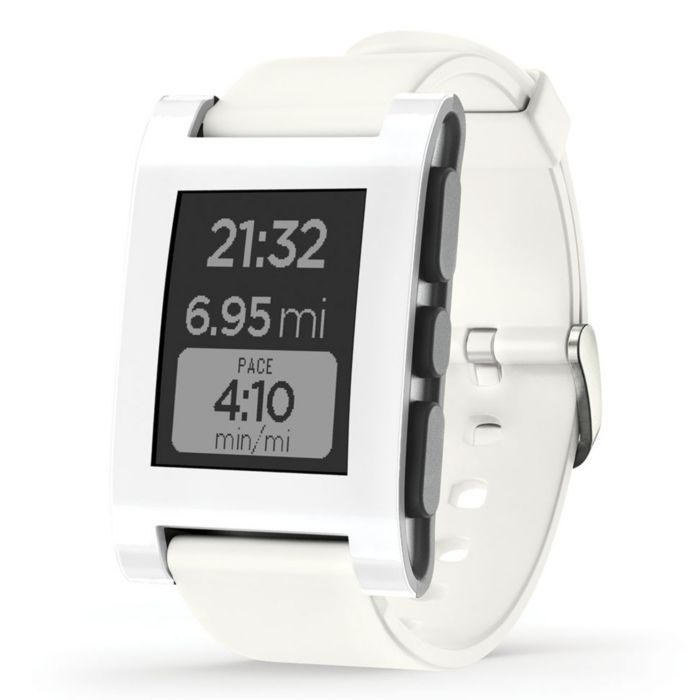 pebble smartwatch in white featured in vente. Black Bedroom Furniture Sets. Home Design Ideas