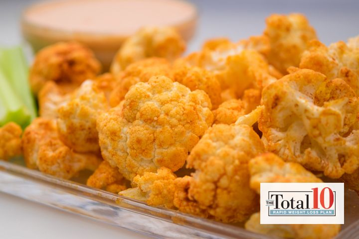 Crispy Spicy Buffalo Cauliflower: Mix cauliflower with spices to make this snack stand out.
