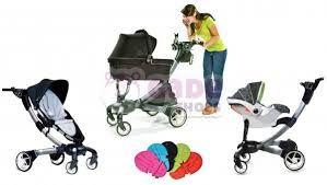 4 moms origami (interactieve kinderwagen: gsm opladen, zelf inklappen, ...) € 995 (enkel buggy) (babyentiener.nl) € 189 (enkel reiswieg) (babyentiener.nl)