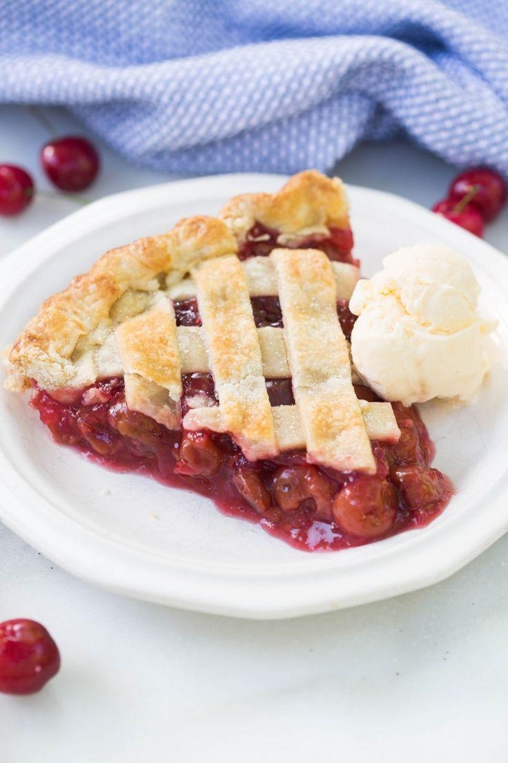 Ditch the canned cherry pie filling for this super easy and yummy homemade cherry pie! You can use fresh cherries or canned cherries so that you can enjoy this pie all year round! | tastesbetterfromscratch.com