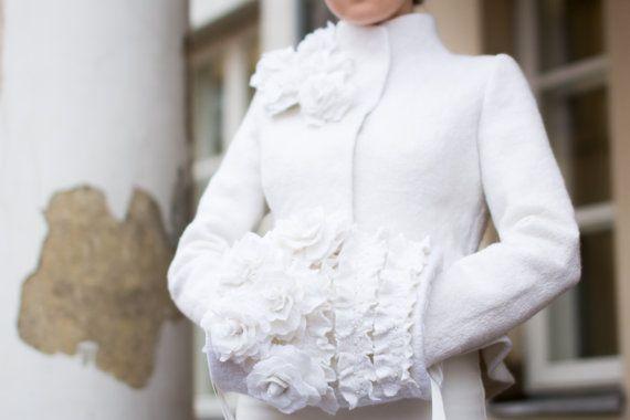 Hand muff  hand warmer  winter wedding  felt muff by DressInFelt