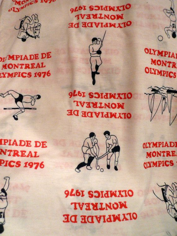 Vintage Fabric Montreal Olympics 1976 Summer by Tasteliberty, $20.00