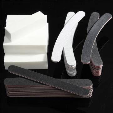 40pcs os instrumentos de manicura de design de unhas profissionais estabelecem o instrumento de arquivos de pedicuro de buffers na Banggood