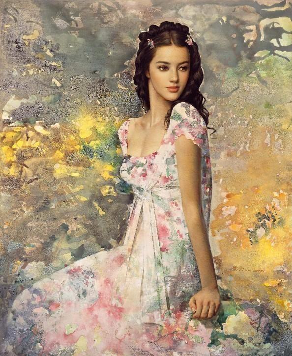 Women paintings by Xie Chuyu