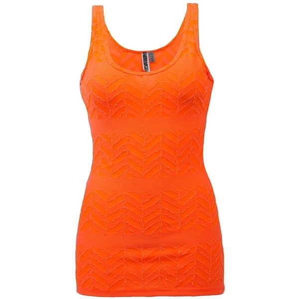 BKE Raw Edge Tank Top - Orange X-Small ($11) ❤ liked on Polyvore featuring tops, orange, tank tops, tanks, transparent top, sheer tank top, orange top, orange tank top and see through tank tops
