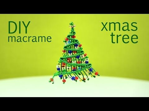 Beaded Macrame Christmas Tree - Tutorial - YouTube