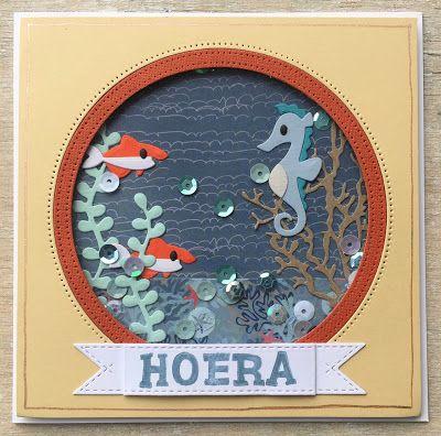 LindaCrea: Ocean Life #3 - Shaker Card